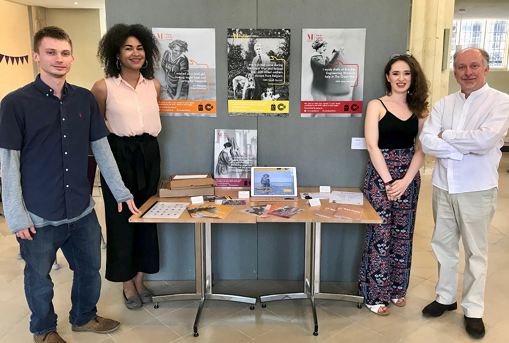 University of Suffolk students bring to life Women in WW1 project through Graphic Design exhibition